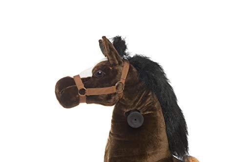 Animal riding ZRP002M Reitpferd Amadeus (für Kinder ab 5 Jahren, Sattelhöhe 69 cm, mit Rollen) ARP002M, Braun, M/L - 4