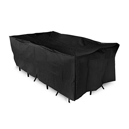 Basong Housse de Protection Bche Couverture Jardin pour Meuble Barbecue Extérieur Rectangulaire Anti-UV Anti-Pluie Anti-Poussière Noir 242*162*100CM avec Sac Rangement