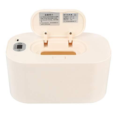 HEALLILY Calentador de Toallitas para Bebés con Temperatura Constante Dispensador de Toallitas Húmedas de Plástico para Bebés Cambio de Pañales Coche de Viaje