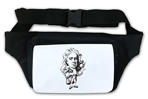 Isaac Newton Famous Scientist Apple Artwork Marsupio