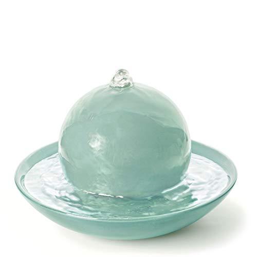 PRIMAVERA Duftbrunnen Rondo Eisgrün glänzend - Luftbefeuchter, Diffuser, Raumduft - Reinigung und Erfrischung der Raumluft - Aromatherapie