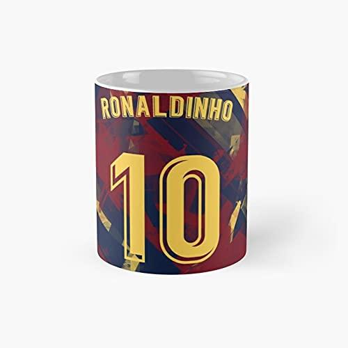 Ronaldinho Classic Mug - 11 Ounce For Coffee, Tea, Chocolate Or Latte.