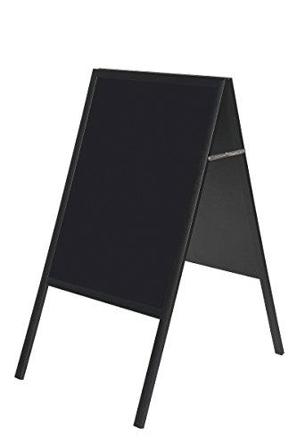 Bi-Office Tableau chevalet de trottoir 900 x 450 mm Noir