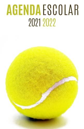 Agenda Escolar 2021-2022 Tenis: Agendas 2021-2022 dia por pagina   Planificador diario para niñas y niños   Material escolar colegio secundaria estudiante   Portada pelota