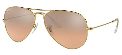 Ray-Ban Gafas de Sol AVIATOR LARGE METAL RB 3025 Gold/Pink Shaded 55/14/135 unisex