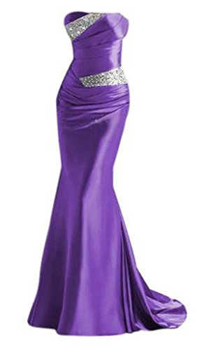 Snowskite Womens Elegant Mermaid Sweetheart Evening Party Bridesmaid Dress Violet 14
