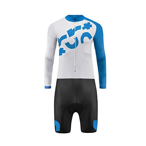 Uglyfrog Männer Radtrikot Set Sommer & Herbst Langarm with Short Legs Skinsuit mit 3D Sitzpolster Herren Fahrradtrikot Triathon Fahrradanzug LTFX01F