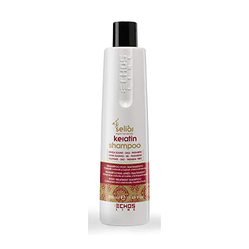 SeliarKeratin-Shampoo, zur Anwendung nach der Behandlung der Haare, ideal nach dem Glätten, sulfatfrei, salzfrei,ohne Parabene, 300ml