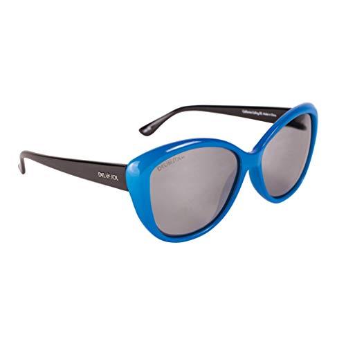 Del Sol Solize - Gafas cambian de color para mujer – California Calling – cambia de color de blanco a azul bajo polarizadas Pro, lentes espejadas, protección 100% UVA/UVB