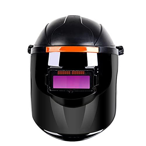 Casco De Soldadura Eléctrica con Oscurecimiento Automático, Máscara De Soldador Solar De Gran Visibilidad con Atenuación Ajustable (Nivel 9-13), Protege Los Ojos Y La Cara,Negro