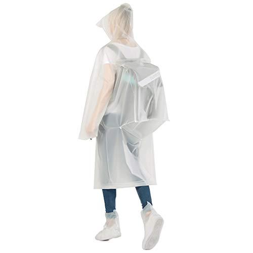Waterbestendig Coat Raincoat lange sectie full body vrouwelijke modellen mannen rel poncho Transparent fietsen regenjas Mooi (Color : Backpack white, Size : M)