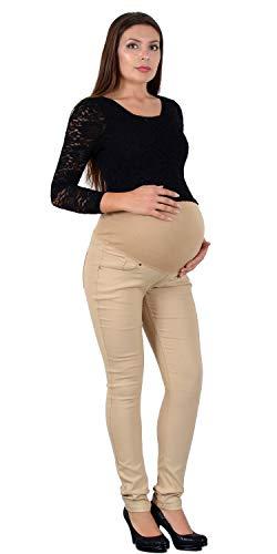 ESRA Schwangerschaftshose Umstandshose Hose für Schwangerschaft Skinny Maternity Hose J530