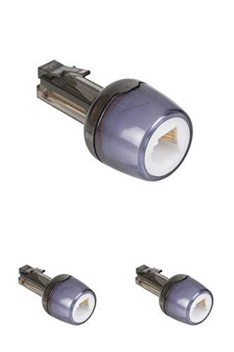 KnnX 28129 | Telefonhörerkabel-Entwirrer | Verhindert EIN Verdrehen des Kabels zwischen Telefonhörer und Telefon | RJ10 (4P4C) | Packung mit 3 Stück