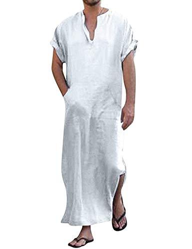 Schlafanzug Pyjama Herren Schlafanzug Nachtwäsche Kurze aerme Sommer Schlafanzug