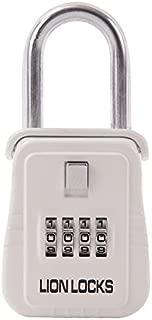 Lion Locks 1500 Key Storage Lock Box with Set Your Own Combination, White