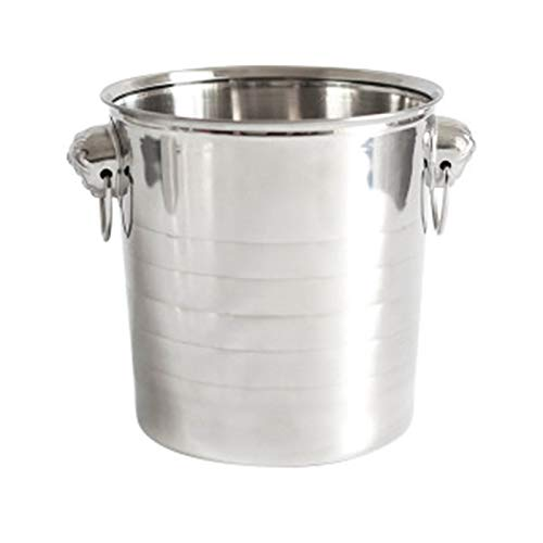 Gesh Cubo de acero para cubitos de hielo para vino, cerveza, enfriador de champán, portátil, bar, fiesta, club, cubeta de hielo