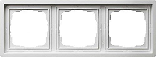 Gira Rahmen 0213112 3fach Fläche reinweiss