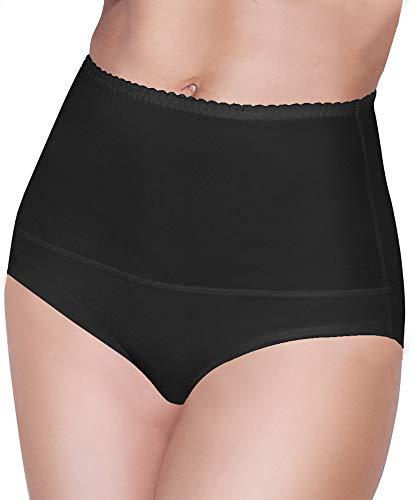 Damen figurenformend Miederslip mit Bauch-Weg-Effekt Stark Formend Miederpants Miederslip Damen Unterwäsche Große Größen (L, Schwarz)