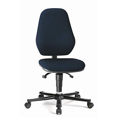 bimos Arbeitsdrehstuhl mit ESD-Schutz - mit Permanentkontakt - mit Rollen, Stoffbezug blau - Arbeitsdrehstuhl Arbeitsdrehstühle Arbeitsstuhl Arbeitsstühle Drehstuhl Drehstühle ESD-Arbeitsstuhl ESD-Arbeitsstühle Polsterstuhl Polsterstühle Stuhl Stühle