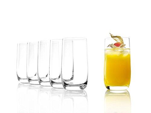 Stölzle Lausitz Saftgläser, Wassergläser der Serie Weinland, 315ml, 6er Set, spülmaschinenfest, bleifreies Kristallglas, hochwertige Qualität