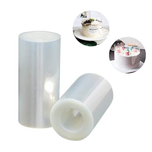 YOUYIKE 2 Rollos de Acetato Transparente Pastel,Película Transparente para Pasteles,para Decoración de...