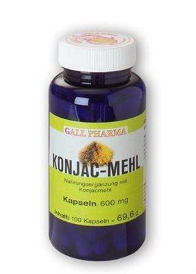 Gall Pharma Konjac-Mehl 600 mg GPH Kapseln, 100 Kapseln