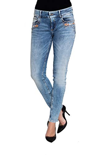 Coccara Damen Jeans Hose Curly Blue, Blau,32