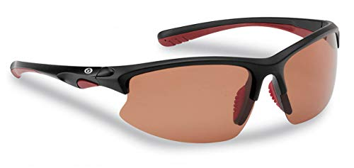 Flying Fisherman Drift Polarized Sunglasses with AcuTint UV Blocker for Fishing and Outdoor Sports, Matte Black Frames/Copper Lenses