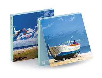 Royal Academy Donald Hamilton Fraser Angelboot und Meereslandschaft, Set mit 6 Kunst-Notizkarten (15 x 15 cm)