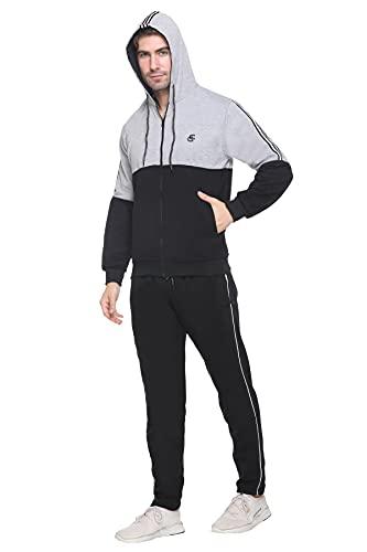 CARACAS Men's Fleece Track Suit For Sports & Gym