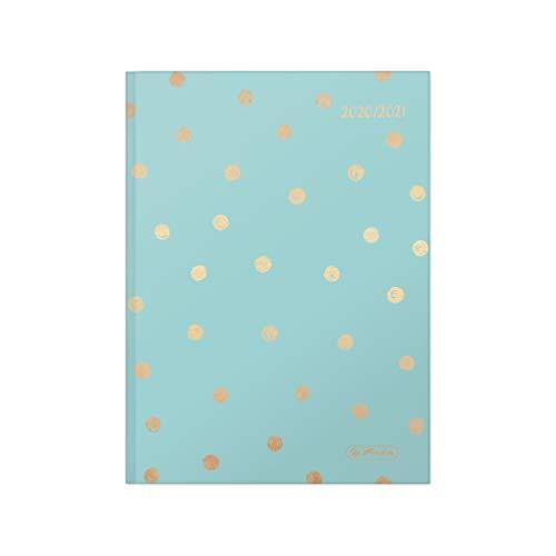 herlitz 50029136 Schülerkalender 2020/21 Basic, A5, Motiv: Dots, 1 Stück