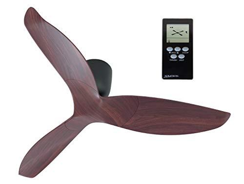 AERATRON AE3+ 43 NOGAL. Ventilador de techo silencioso con acabado en color madera nogal, aspas reversibles. Se trata del ventilador más eficiente del mercado. Obtuvo el Premio Energy Star 2013-2020.