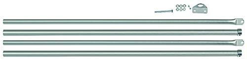 Viro 8217.0028 - Juego de 2 barras para cerraduras para puertas basculantes, de acero