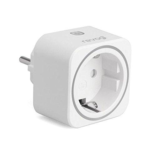 Revogi Smart meter steckdose Bluetooth 4.0 Verbrauchsanzeige Energiesparend Kabelloser Funkausgang Android 4.3 iOS 6 kompatibel Überstromschutz Anti-Einbrecher Modus Zeitplaner