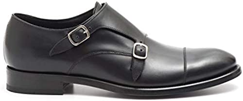 J. Wilton - Double Monk Strap schuhe in schwarz Calf Leather - 477 3015ANIL schwarz