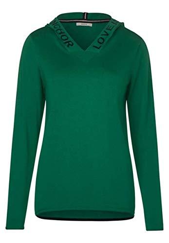 Cecil Damen Sportlicher Hoodie-Pullover Lucky Clover Green XL