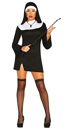 FIESTAS GUIRCA Disfraz de Monja Mujer Adulta Talla M 38-40