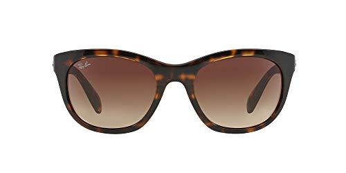 Ray-Ban Women's RB4216 Square Sunglasses, Light Havana/Brown Gradient, 56 mm