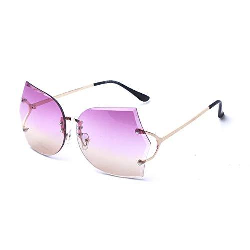 SUIBIAN Gafas de Sol Transparentes sin Montura para Mujer Gafas de Sol Transparentes con Lentes Transparentes para Mujer
