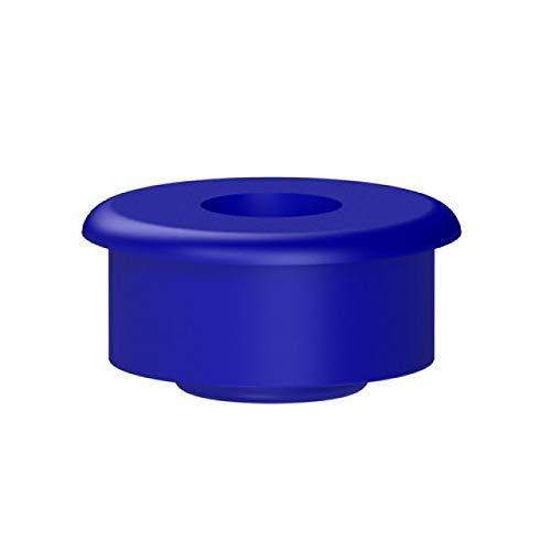 Tapón azul para conexión del lavavajillas.