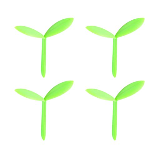 NUOBESTY Green Sprout Bookmarks Leaf Bookmarks Creative Gifts for Kids,Teacher Classroom Rewards,Set of 4
