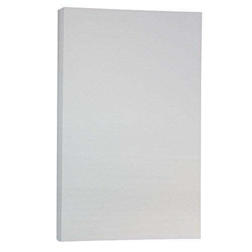JAM PAPER Cartoncino in Pergamena Bristol - 215,9 x 355,6 mm Coverstok - 145gsm - Grigio - 50 Fogli/Confezione