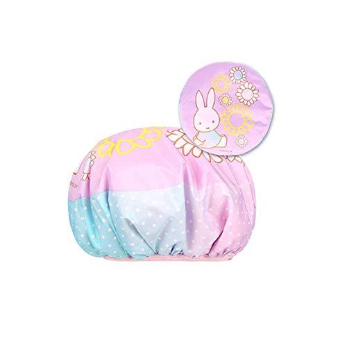 YXIAOn douchekap, dubbele waterdichte douchekap, binnenste suède, zacht aanvoelend, kan worden gebruikt als een droge haardop. De buitenlaag is waterdicht en kan worden gebruikt als douchekop en douchekop. Roken 2