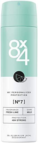 8X4 Deo Spray N°7 Fresh Lime (150 ml), Damen Deodorant mit frisch-fruchtigem Zitrusduft, Deo ohne Aluminium für jeden Hauttyp