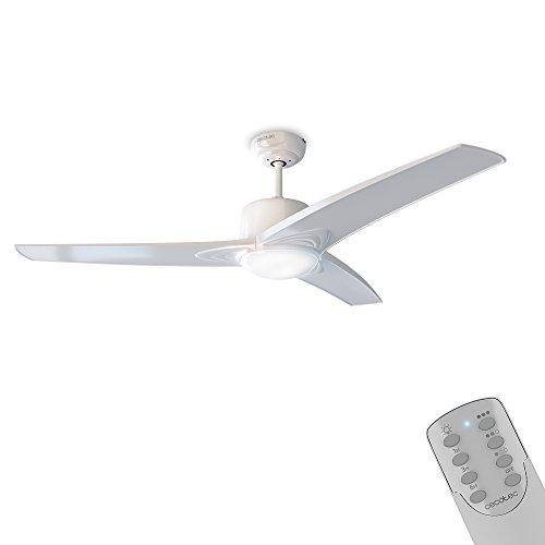 Cecotec Ventilador de Techo ForceSilence Aero 550. Mando a Distancia, 132 cm de Diámetro, 3 Aspas, 3 Velocidades, Función Invierno Natural, 60 W