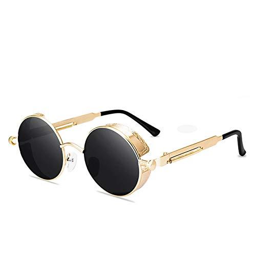 Único Gafas de Sol Sunglasses Gafas De Sol Redondas Steampunk para Hombres Y Mujeres, Gafas De Moda De Diseñador, Montur