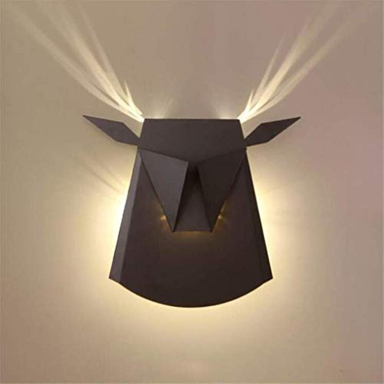 Zhang Ying ZY  Wandleuchte Moderne Antlers Wandleuchte Wash Lampe Eisen Farbe Schatten LED Spot Beleuchtung Für Schlafzimmer Nacht Wohnzimmer Hotel Flur, Schwarz
