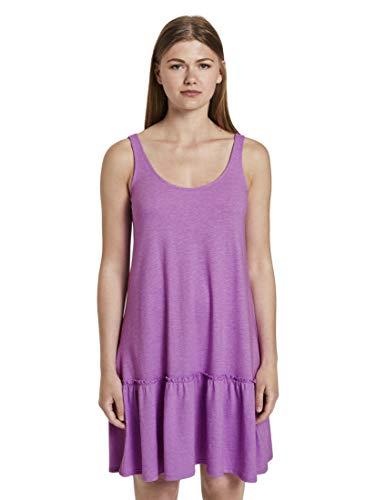 TOM TAILOR Denim Damen Jersey Rückendetail Kleid, 22516-light Berry, L