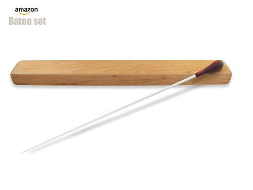 PhysCool Professioneller Taktstock mit Holzgriff, mit hochwertiger Holzkiste (offizielle Länge 38,1 cm) rosewood
