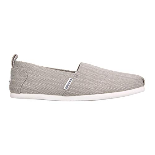SoulCal Herren Long Beach Canvas Slipper Sneaker Grau Denim 43